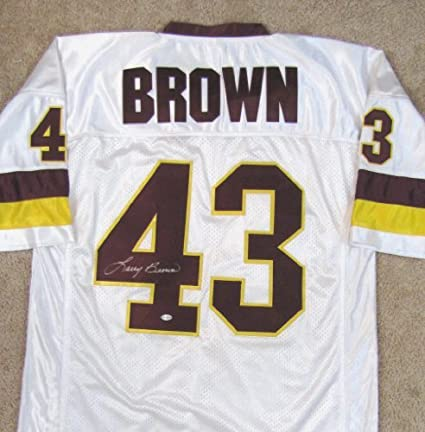 Image Unavailable. Image not available for. Color  Larry Brown Autographed  Throwback Custom Jersey - Washington Redskins a4c79649e