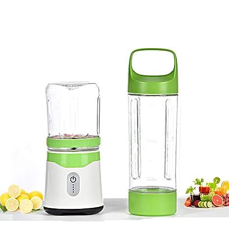 Exprimidor, taza de jugo fresco portátil mini viaje, taza de jugo eléctrico,green