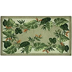 "Bacova Guild Classic Berber Skid-Resistant Accent Rug, Tropical Border, 40""x22"""