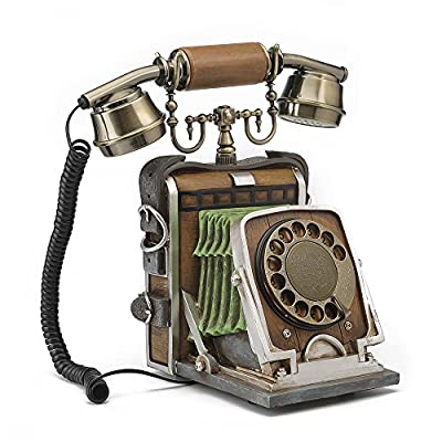 LNC Vintage Telephone with Push Button Dail,Rotary Fashion