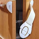 Safety Locks,5PC Kids Child Baby Proofing Safety Locks Door Fridge Cupboard Cabinet Drawer (Yellow)