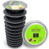 : Round Meal Prep Containers Set - Portion Control Bento Box- Food Storage / Restaurant Foodsavers - 12pk