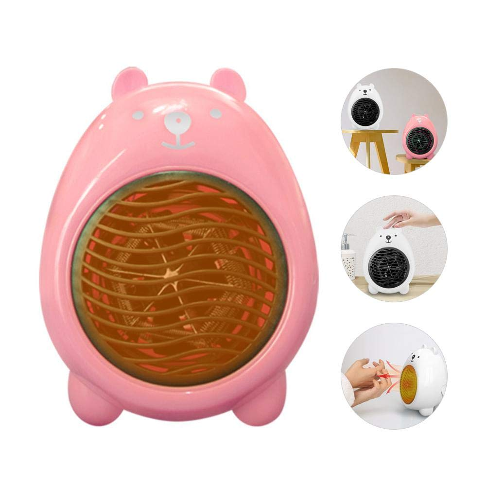 Volwco 400W Personal Space Heater, Cute Mini Cartoon Bear Shape, Fast Heating with 3 Seconds Fast Heating, Portable Ceramic Space Heater Fan for Office Desktop Home Bedroom