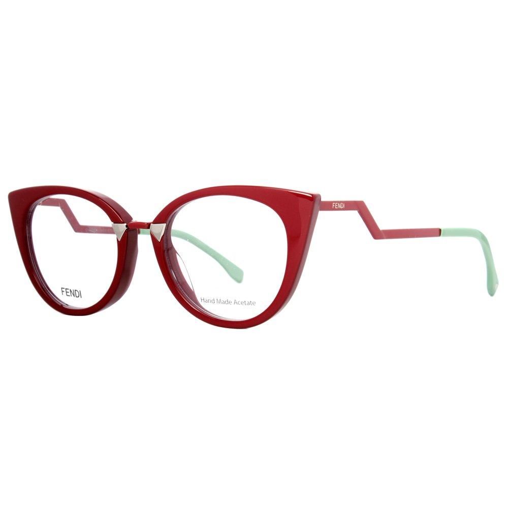Fendi Brillen Für Frau 0119 ICD, Bordeaux Kunststoffgestell: Amazon ...