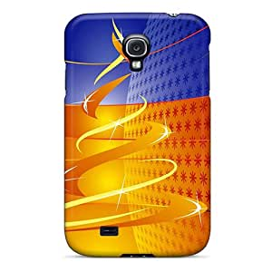 Top Quality Case Cover For Galaxy S4 Case With Nice Modern Xmas Tree Appearance
