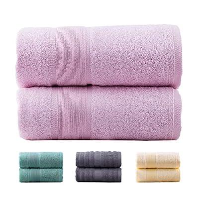 "Jml Luxury Bamboo Towels   2 Piece Bath Towel Set (27""x54"") Antibacterial & Hypoallergenic, Soft & Absorbent, Odor Resistant, Skin Friendly Bathroom"