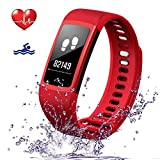 Smart Bracelet Fitness Tracker,Heart Rate Monitor Bluetooth Smart Watch With Sleep Monitoring Call Reminder Outdoor Sports Waterproof Fitness Watch Pedometer For Men Women Kids Android & ios (Black)