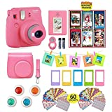 Best Discount Fujifilm Instax Mini 9 Instant Camera With Accessories Bundle Of Soft Leather Case Mini Photo Album 6 Christmas Magnet Frames 4 Colored Lenses Selfie Lens 10 Photo Frames Stickers More