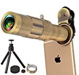 Retina iPhone 20X Zoom Lens Up to 5000 Yards | Turbocharge your iPhone Camera | Telephoto Lens Fits Any iPhone X, 8, 8 plus, 7plus, 7, 6, 6s, 6plus, 5, 5s, 4s and All Other Smartphones