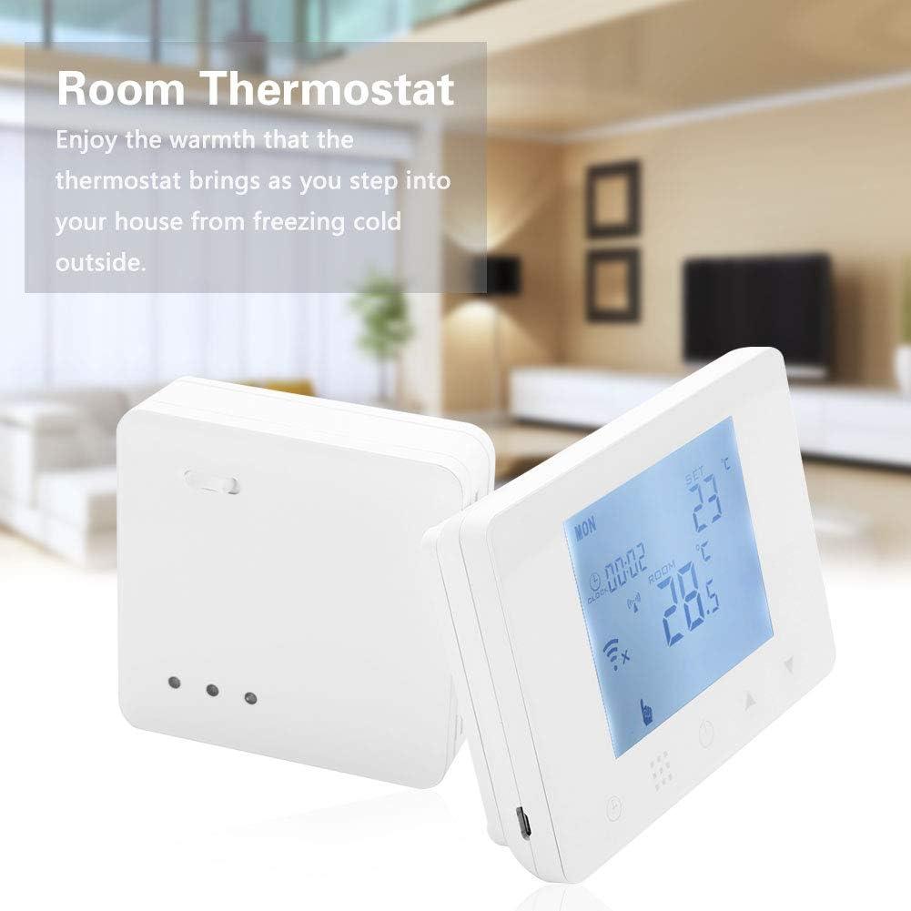 Thermostat de Chauffage Electrique Numérique Grand Ecran LCD HY09RF-WiFi EU Plug
