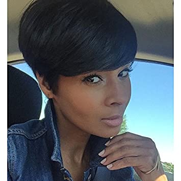 Short Black Hairstyles Synthetic Short Wigs For Black Women Heat Resistant  Women Hair Short Pixie Cuts