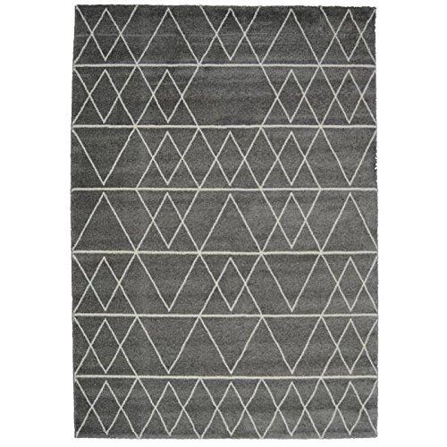 NAZAR Tapis, Fibres Synthétiques, Gris, 170x120 cm 512095