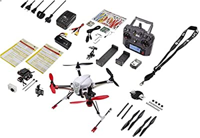 RC Logger NovaX 350 PLUS Aerial Photography Set Silver Edition 6-Axis Auto-Balancing Quadcopter (RtF) with Brushless Motors, 2,4 GHz Remote Control Included