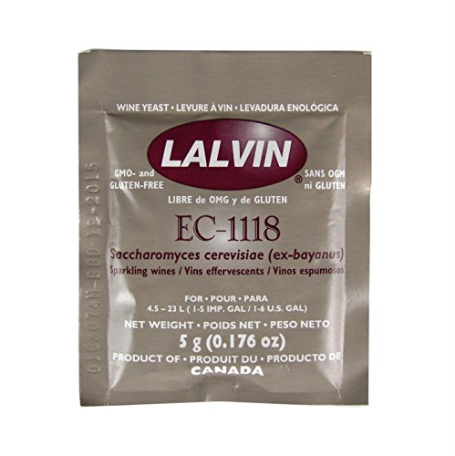 Lalvin Dried Wine Yeast EC #1118 (Pack of 10) (Wine Ship)