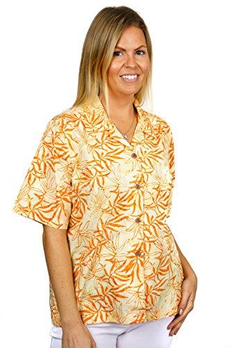 Artisan Outfitters Womens Oasis Batik Cotton Hawaiian Shirt