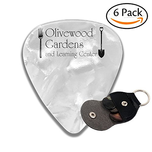 Colby Keats Guitar Picks Plectrums Olive Wood Gardens And Learning Center Classic Electric Celluloid Acoustic For Bass Mandolin Ukulele 6 Pack 3 Sizes .71mm