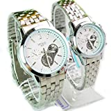 Personalized Couple Lover Watches with Stainless Steel Band