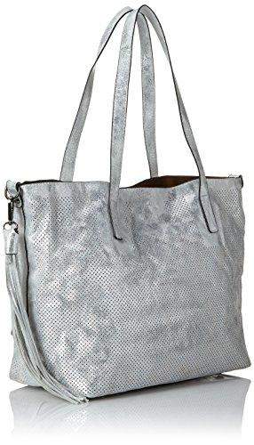 T Donna Silber B Q0382 cm a 47x30x15 H Remonte x Silber platin spalla Borse wFZYOIx