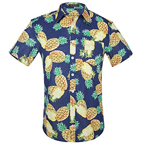 Beach Ethnic Style Men Printed Short-sleeved Shirt Personality Summer Tee