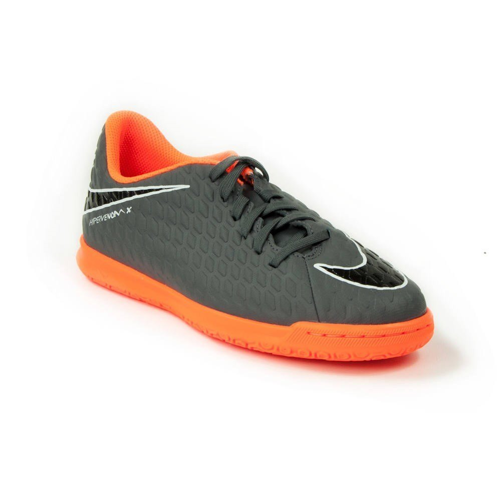 81114d33ec9 Amazon.com  Nike Jr. Hypervenom PhantomX 3 Club (IC) Indoor-Competition  Football Boot - Dark Grey  Sports   Outdoors