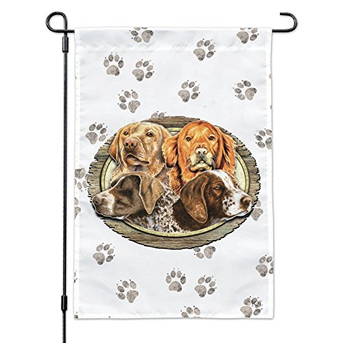 - Graphics and More Hunting Dogs Oval Garden Yard Flag with Pole Stand Holder