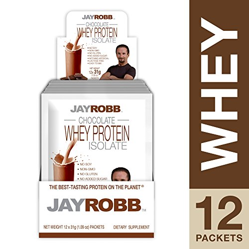 Jay Robb - Grass-Fed Whey Protein Isolate Powder, Outrageously Delicious, Chocolate, 12 ()