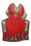 Mogul Interior Womens Caftan Red Kaftan Printed Sleepwear Housedress One Size