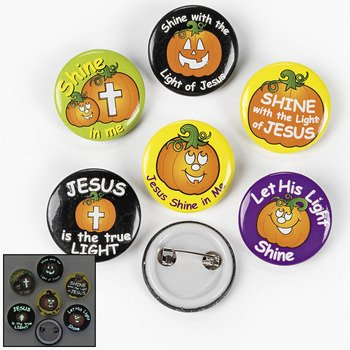 Inspirational Halloween Glow Mini Buttons (Pack of 48) Case Pack 2 ()