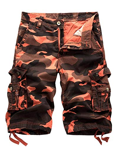 Vêtements Mode Saoye Sports Tracks Hommes Pourriture Occupation Travail Pour Casual Orange Camouflage Droite Shorts 8dvqfwrxd