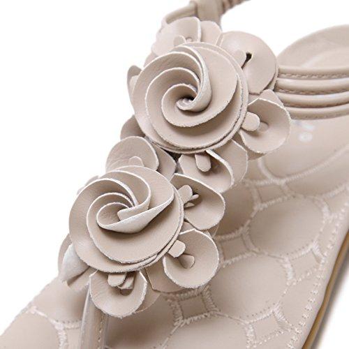 Flip Verano Vocni Flor Flop Zapatos Sandalias Mujer Albaricoque Con Bohemia Cuentas SRHgSq