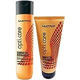 Matrix Opti.Care Smooth Stright Shampoo 350ml Conditioner 196g (Combo)