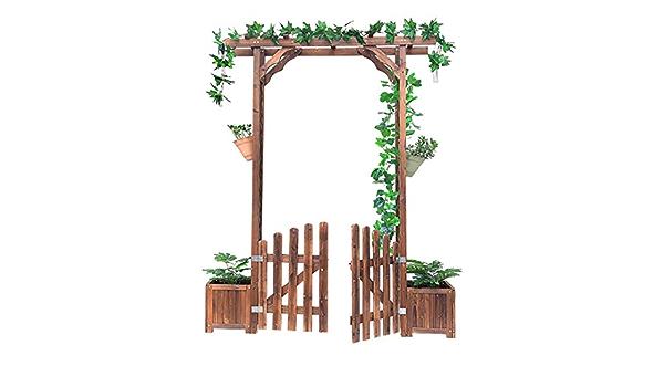 Arco de Rosas de Jardín Pérgola para Jardin con 2 Jardines ...