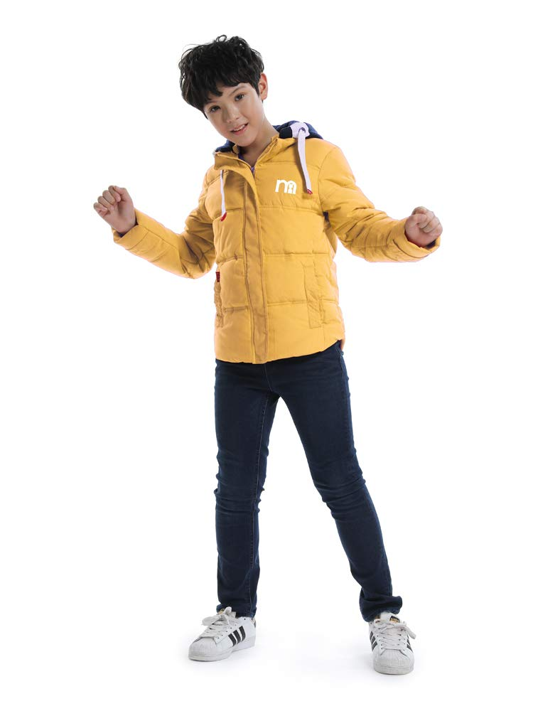 OCHENTA Boys' Hooded Winter Quilted Puffer Jacket, Parka Down Coat Yellow Tag 120-43''(4T) by OCHENTA (Image #4)