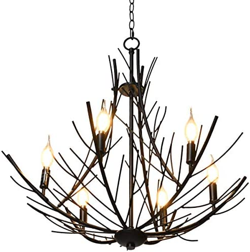 Tangkula Farmhouse Branch Chandelier