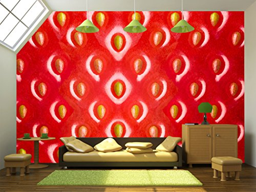 Strawberry Texture Abstract Background
