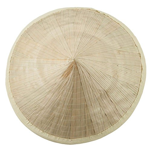 Coolie Hat Asian Japanese Large Straw Bamboo Sun Rice Farmer Costume Accessory