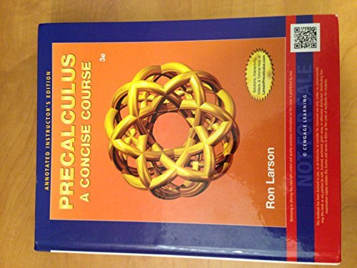 Precalculus a Concise Course Instructors Annotated Edition
