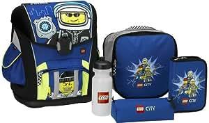 LEGO 12010 - Juego de mochila escolar y accesorios con diseño de policía de LEGO City