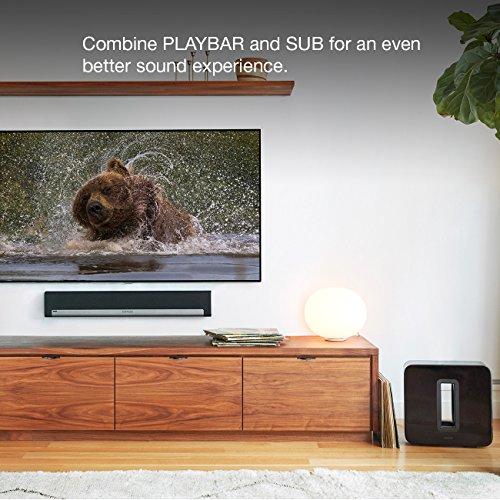 sonos playbar tv sound bar wireless streaming music speaker smart home inside. Black Bedroom Furniture Sets. Home Design Ideas