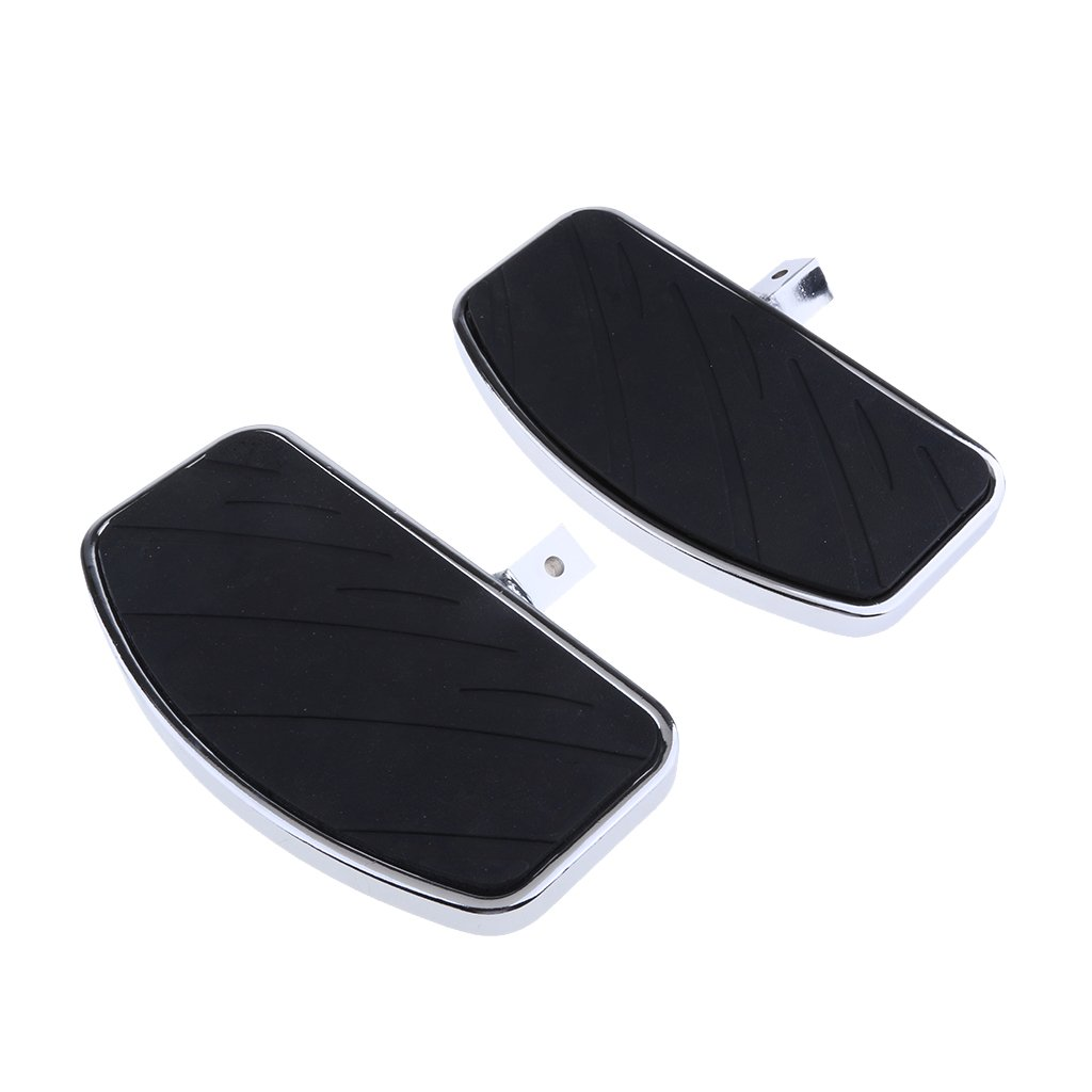 Baoblaze 2pcs Black Front Rider Foot Pedals for Honda Magna VF 250 750 Yamaha V-STAR DragStar 650 XV