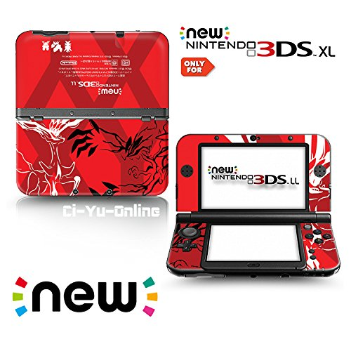 [new 3DS XL] Pokemon XY Red Limited Edition VINYL SKIN STICKER DECAL COVER for NEW Nintendo 3DS XL / LL Console System