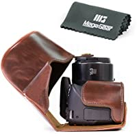 MegaGear Ever Ready Protective Leather Camera Case, Bag for Canon Powershot SX540 HS, SX530 HS (Dark Brown)