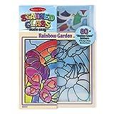 Melissa & Doug Stained Glass See-Through Window Art Kit: Rainbow Garden - 80+ Stickers, Frame
