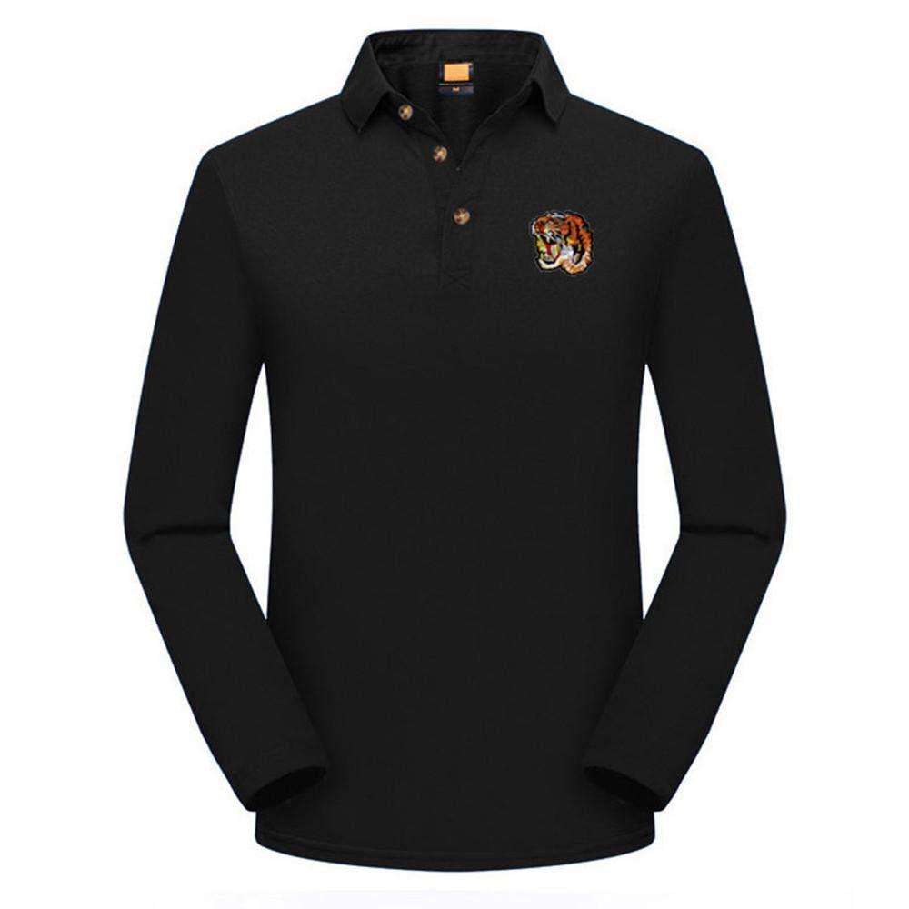 Doublehero Herren Herbst Hemd Slim fit Pullover Langarmshirt, Mode Einfarbig Freizeitshirt Elegant Sweatshirt Oberteile Top Bluse mit Stehkragen Herrenhemden