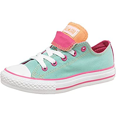 27f7435d8b4f Converse Junior Girls CT All Star Double Tongue Ox Beach Glass Blue - Light  Blue
