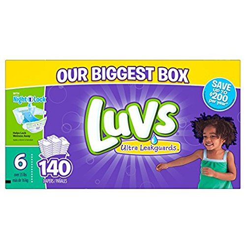 Luvs Ultra Leakguards Diapers Size 6, 140 Count