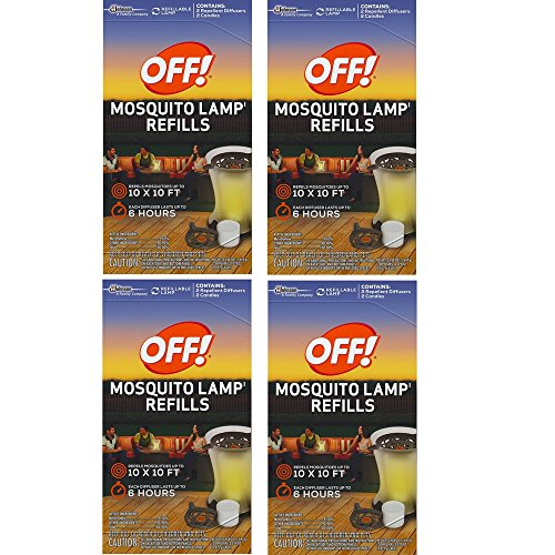 Mosquito Lamp Refill - S C JOHNSON WAX 76086 Off Mosquito Lamp Refill, 2-Pack (4 Box)