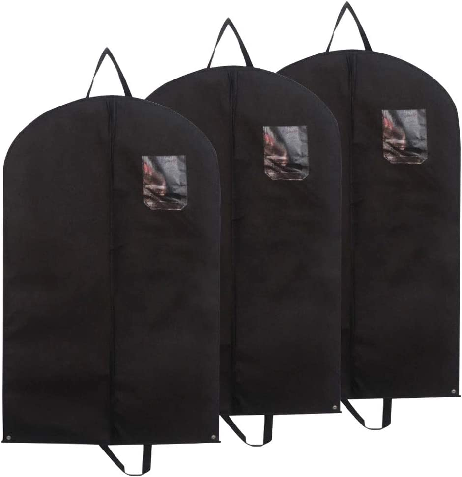 EEM 3 Piece Premium Clothes Bag Breathable Bags for Suits Suit Bags for Travel and Storage 39.4 x 23.6 Inches - 100 cm x 60 cm Jackets and Dresses