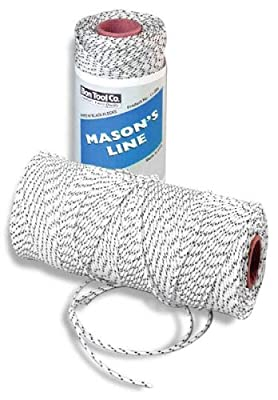 Bon 11-285 18#, 500-Feet Bonded Braided Nylon Line, White with Black Flecks from Bon Tool