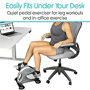 Pedal Exerciser by Vive - Portable Medical Exercise Peddler - Low Impact, Small Exercise Bike for Under Your Office Desk - Designed for Either Hands or Feet by VIVE Health